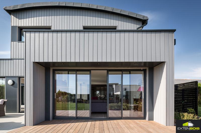 Extension bois finistere extenbois - Transformer son garage en piece habitable ...